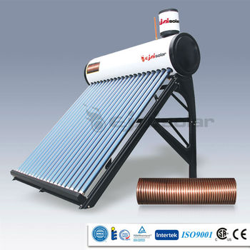 Integrative Non-pressure Pre-Heated Solar Water Heaters With Copper Coil