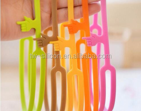 beautiful Light Finger pointing Silicone Bookmark