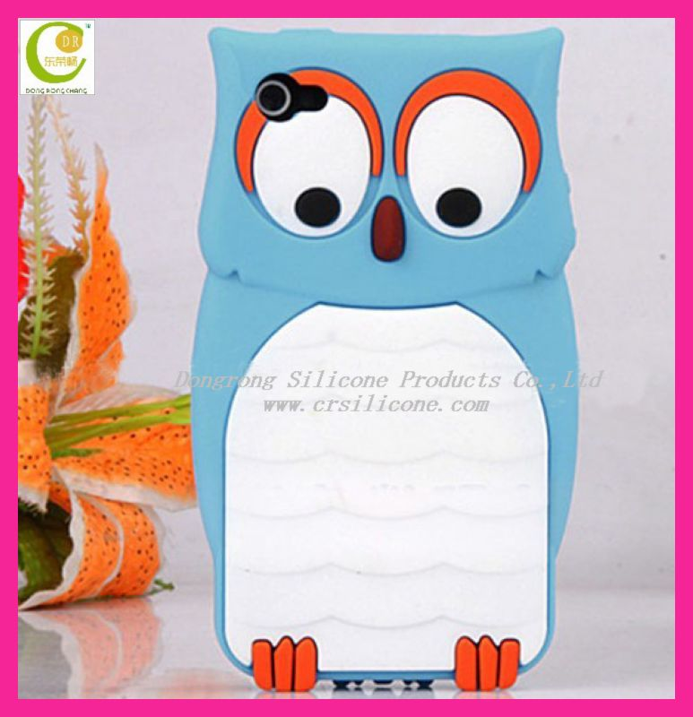 Cute various colors 3d night owl fashion animal shaped phone cases for Samsung s4
