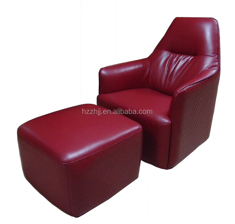 Executive living room adult sex one seat with stool leather single chair sofa