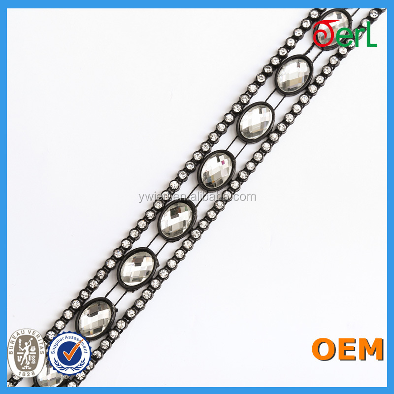 Plastic rhinestone chain string trimming wholesale factory directly sale