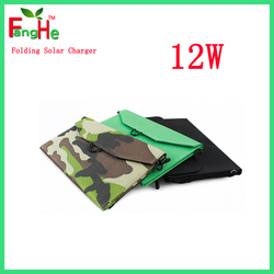 12W Hot sell Portable Solar Power Bank , Phone , Digital Devices Charger
