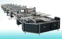 Automatic T-shirt screen printing machine, oval automatic textile screen printer