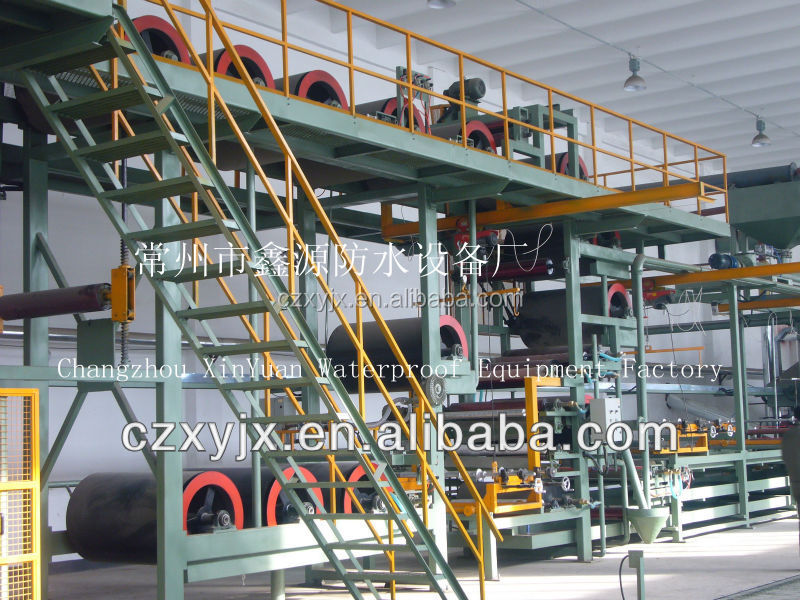 Flexible roofing material/ rubber sheet/waterproof membrane production line