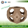 Aimigou collapsible pet house for cat cardboard cat scratcher house