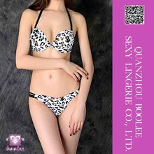 Factory supply new arrival low price Sexy Print Halter Bikini