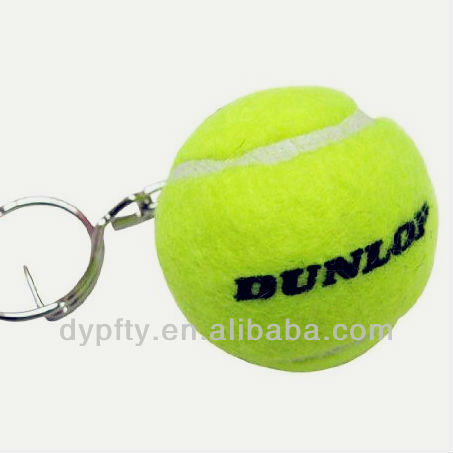 Mini custom tennis ball keychain