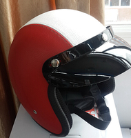 open face leather helmet, with DOT, CE approved, ABS shell,german style, vintage