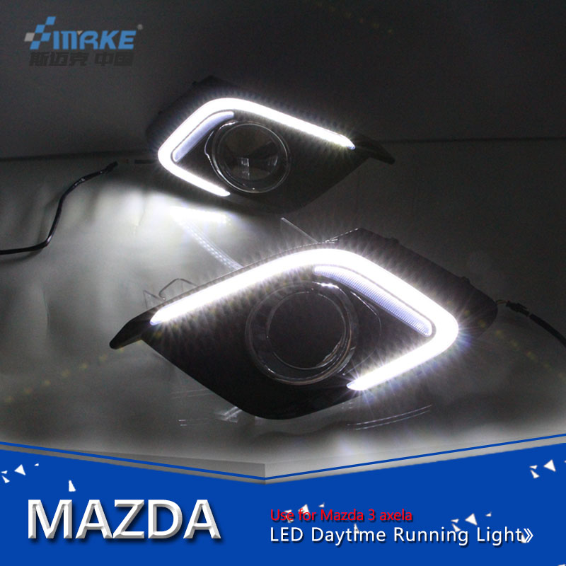 Car style for mazda 3 axela 2014-2015 led daytime running light, led drl for mazda 3 fog lamp