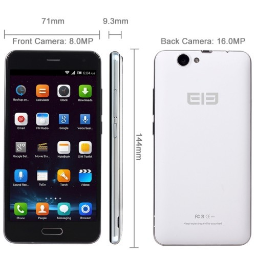 new Elephone P5000 5.0 inch Capacitive Screen Android 4.4 Unlocked Smart Phone