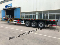 China supplier Flatbed trailer for sale 3 axles gooseneck flatbed trailer