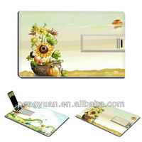 Promotional gift newest business credit card 2gb usb flash thumb drive,flower business credit card 32gb usb flash drive