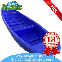 Fashionable shrimp pond plastic fishing boat for aquaculture, with good quality