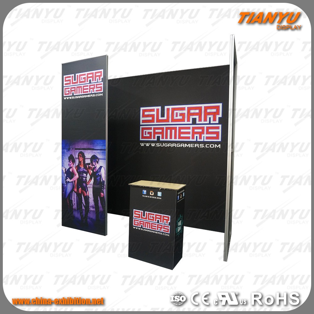 Hot Sale Tianyu Custom 3X3 Aluminum China Display Stand Design Expo Trade Show Exhibition Booth