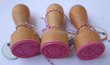 best price Custom wooden stamp set with red rubber