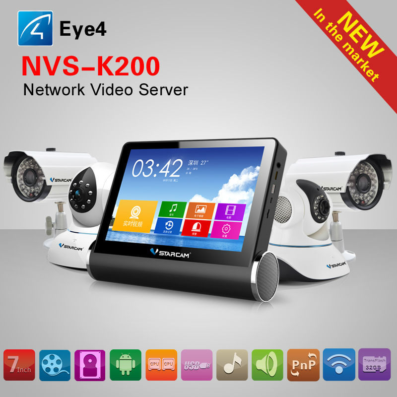 new product dvr recorder with 4 ch h.264 ip cctv camera network video server NVS