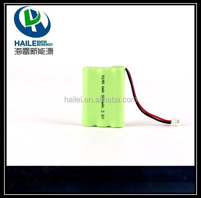 Rechargeable NiMH Battery Pack H-AAA 2.4v cylindrical battery