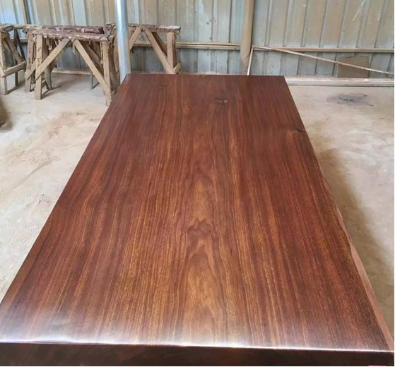 Fashion Okan Style Right-Angle Side Pure Natural Rose Wood Dining Table Top