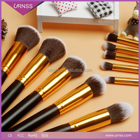 Handmade makeup brushes and polka dot makeup brush with decorative makeup brush holder beads
