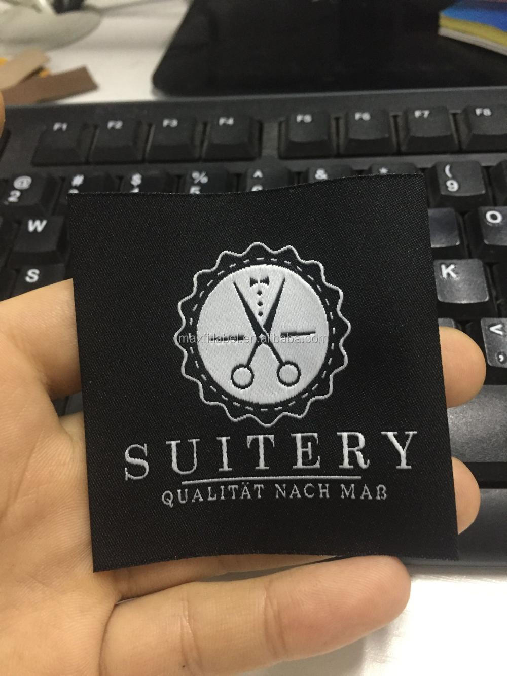 Custom Woven Label Main Label Woven Clothing Label For Garment