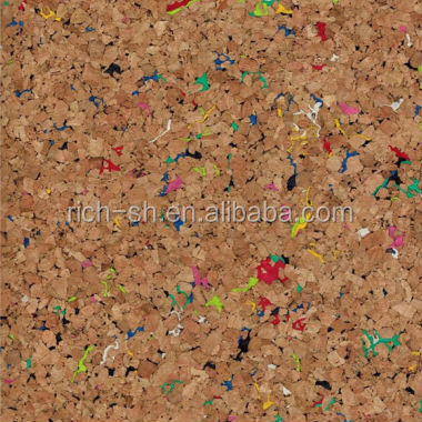 RQ-CHHD7 natural eco-friendly decorative cork wall tiles