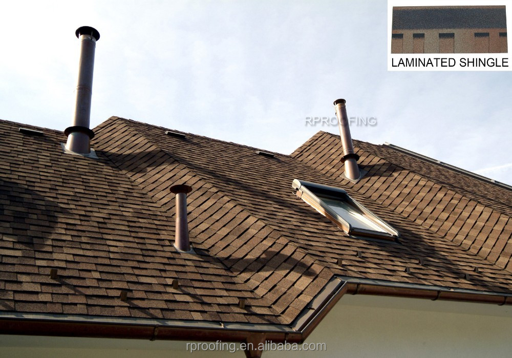 double layer fiberglass asphalt roof shingle prices/building material
