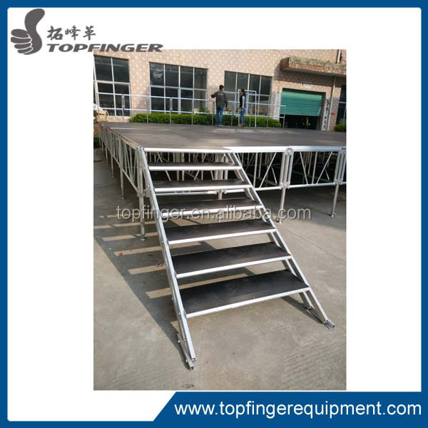 High quality heavy load weight portable stage and catwalk stage, outdoor concert stage design