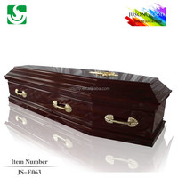 MDF european style cheap funeral wood coffin