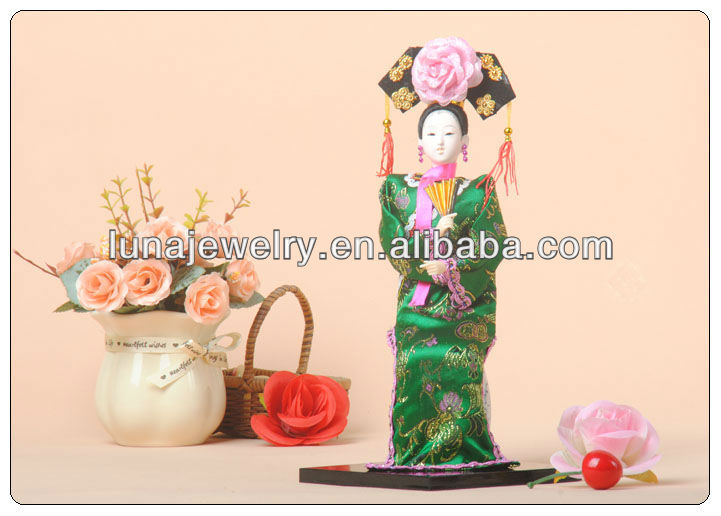 "12""chinese National Doll Decoration,traditional chinese doll decorative"