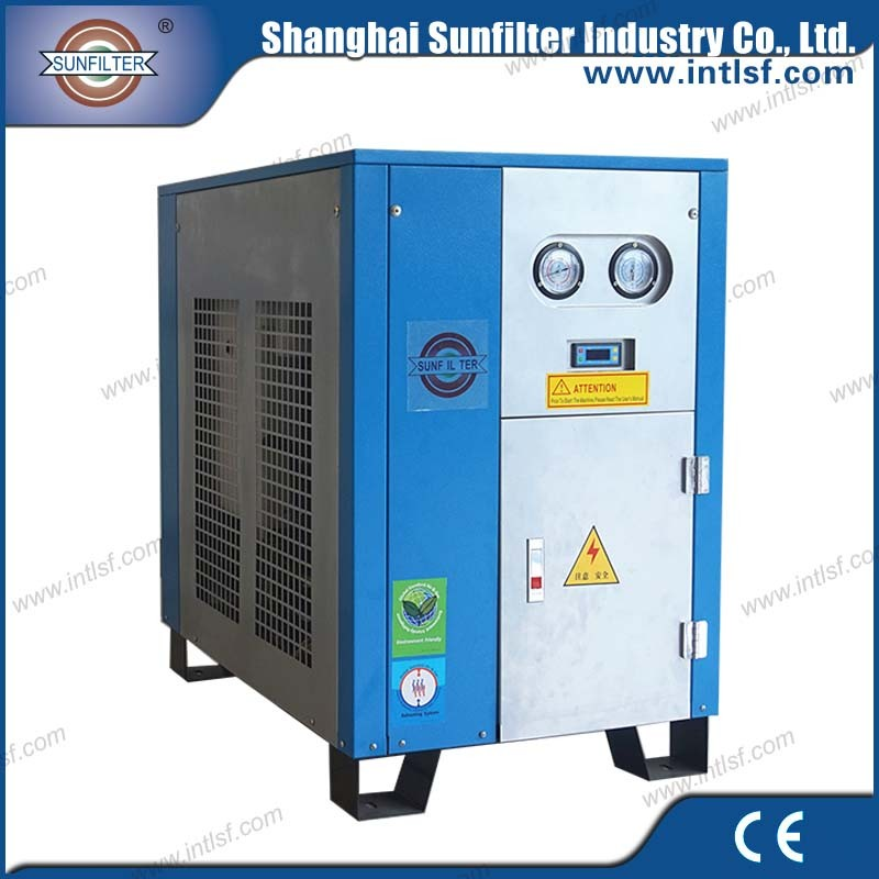 Shanghai sunfilter portable air compressor for sand blasting sale with refrigeranted air dryer