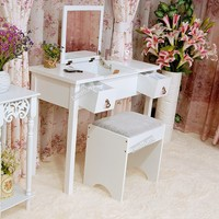Vanity furnituire wall mounted wooden dressing table