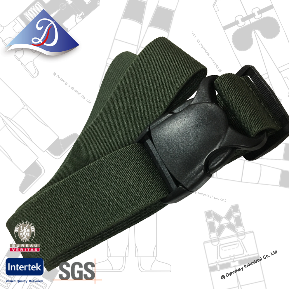 Fishing accessories: Adjustable stretch wading belt with side release buckles.