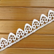 New Design Shoes And Bag 1.5cm Width Chemical Lace Trim