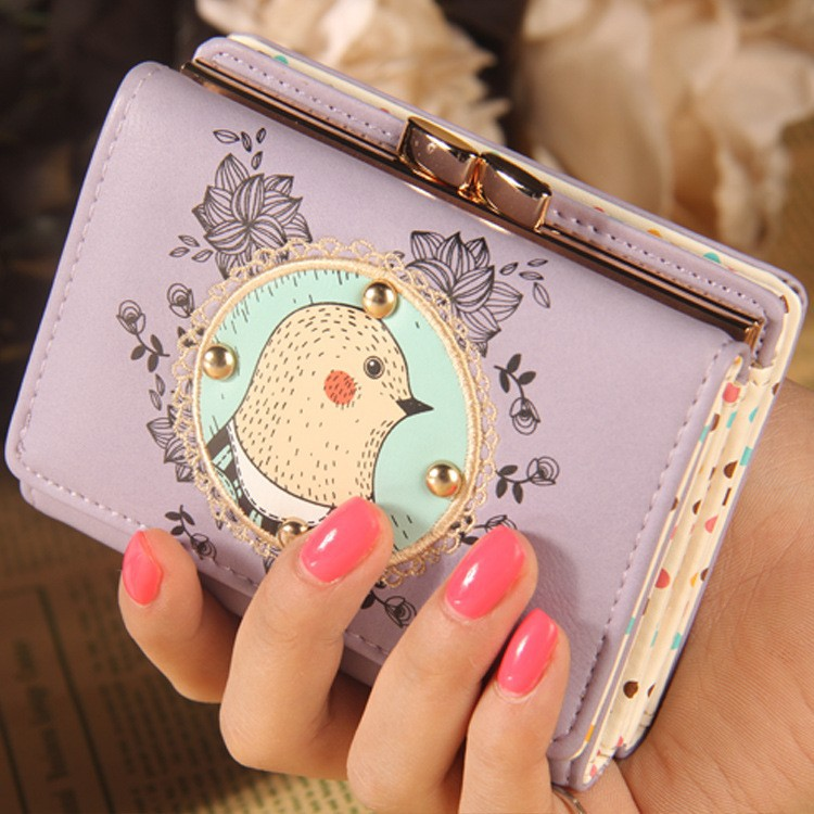 New products Groundhog Leather ladies short purse women short wallet