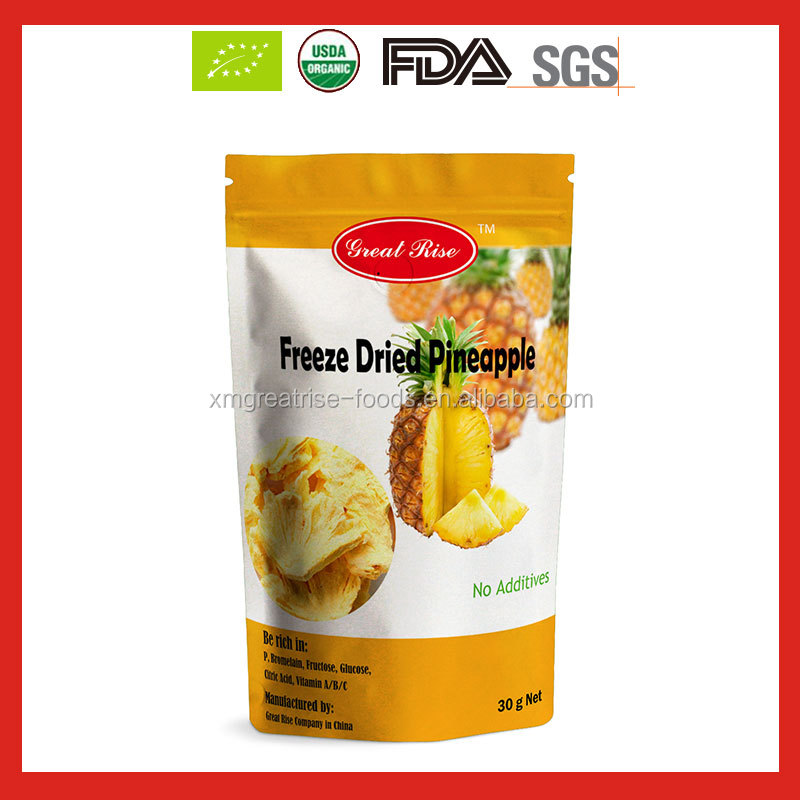 Delicious Organic Freeze Dried Pineapple Chips with good price