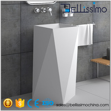 Autoportant Bassin, Unique Pierre Artificielle Lavabo Piédestal BS-8511
