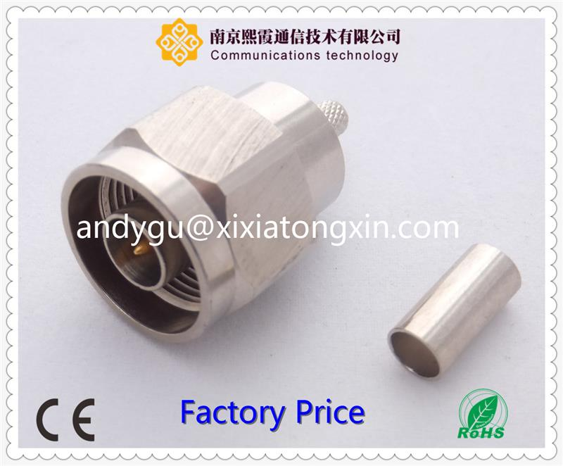 n male right angle N female flange connector for pcb mounting XiXia Communication
