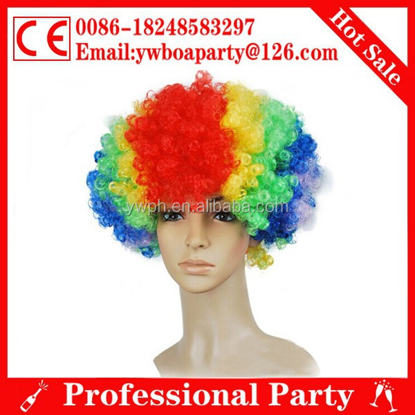 colorful sports fans wig