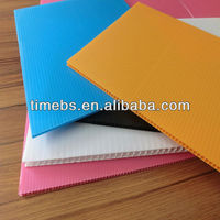 Light weight Corrugated polypropylene fluted plastic sheet/board/panel