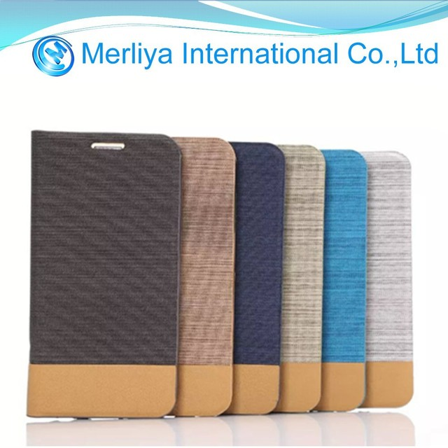 New design jean + pu leather mobile phone case for samsung s6