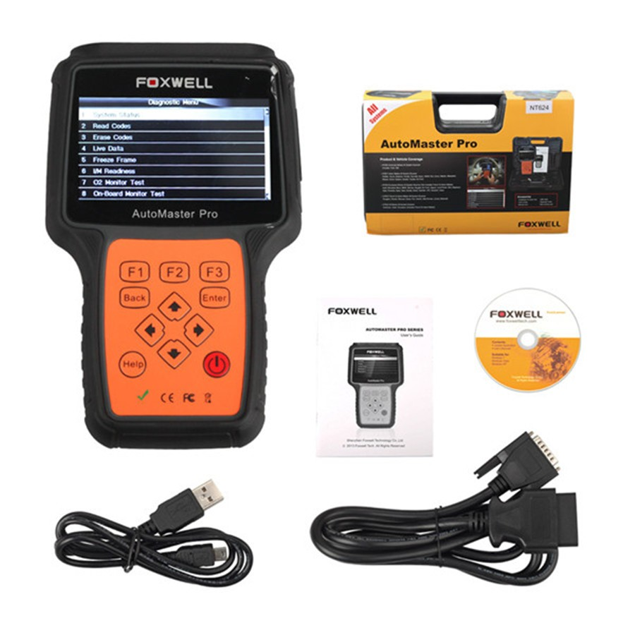 <strong>100</strong>% Original Foxwell NT624 Pro All Makes All Systems Scanner Engine Transmission ABS Airbag SRS EPB <strong>Oil</strong> Reset Diagnostic Tool