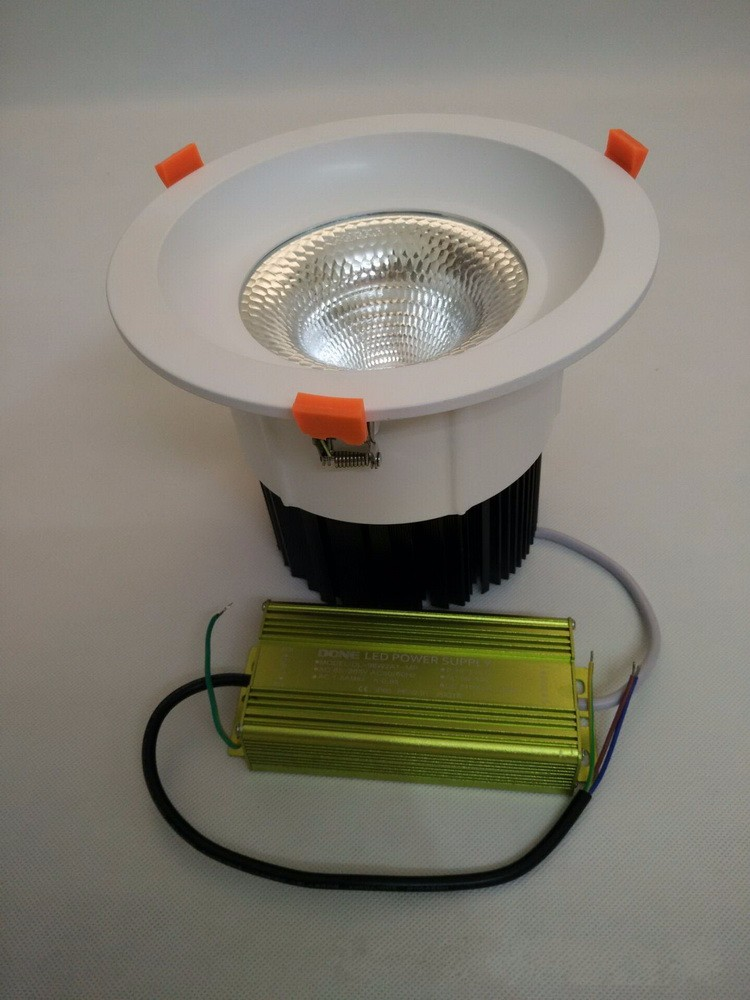Wholesale price COB downlight home decorations 30W cob recessed downlight round led ceiling downlight