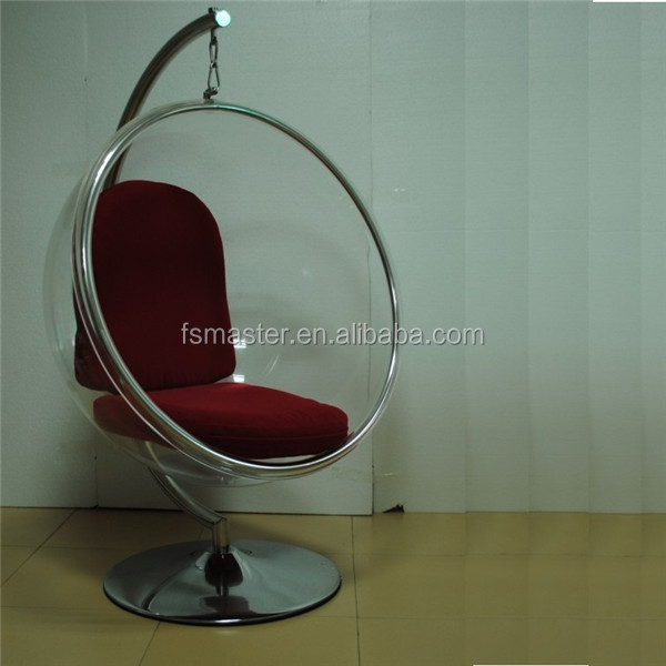 standing ball Acrylic swing bubble chair with stand