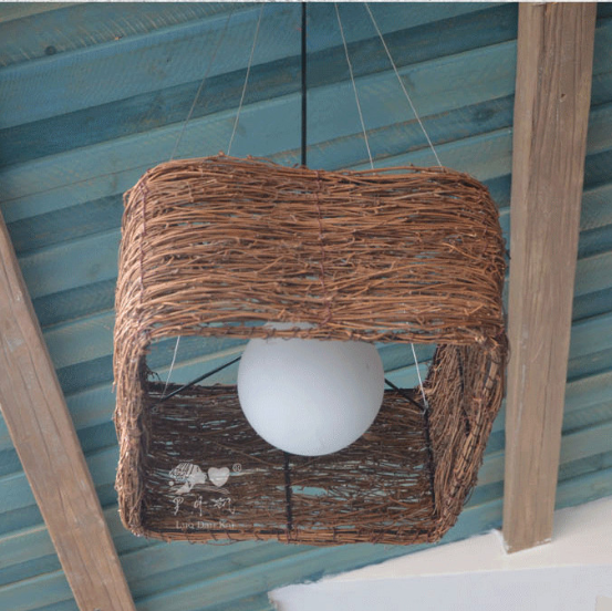 Original Freely Nordic Creative American Style Square Simple Hanging Pendant Light Fixtures pendant light lampshade