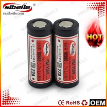 Flat top 3.7V 1100mAh li ion battery 18500 battery rechargeable battery with good quality
