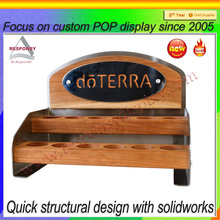 desktop wood exhibition stand body massage oil display holder essential oil stand