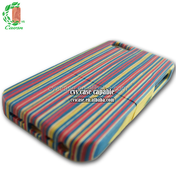Rainbow wood for iPhone case,full wood phone case for iPhone 5s,case cover for iPhone 5.