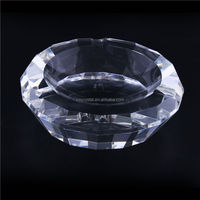 Most popular custom design beautiful round cut crystal ashtrays with good offer