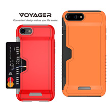 Mobile phone accessories card pocket cases for iPhone 7,wallet cases for iPhone 7