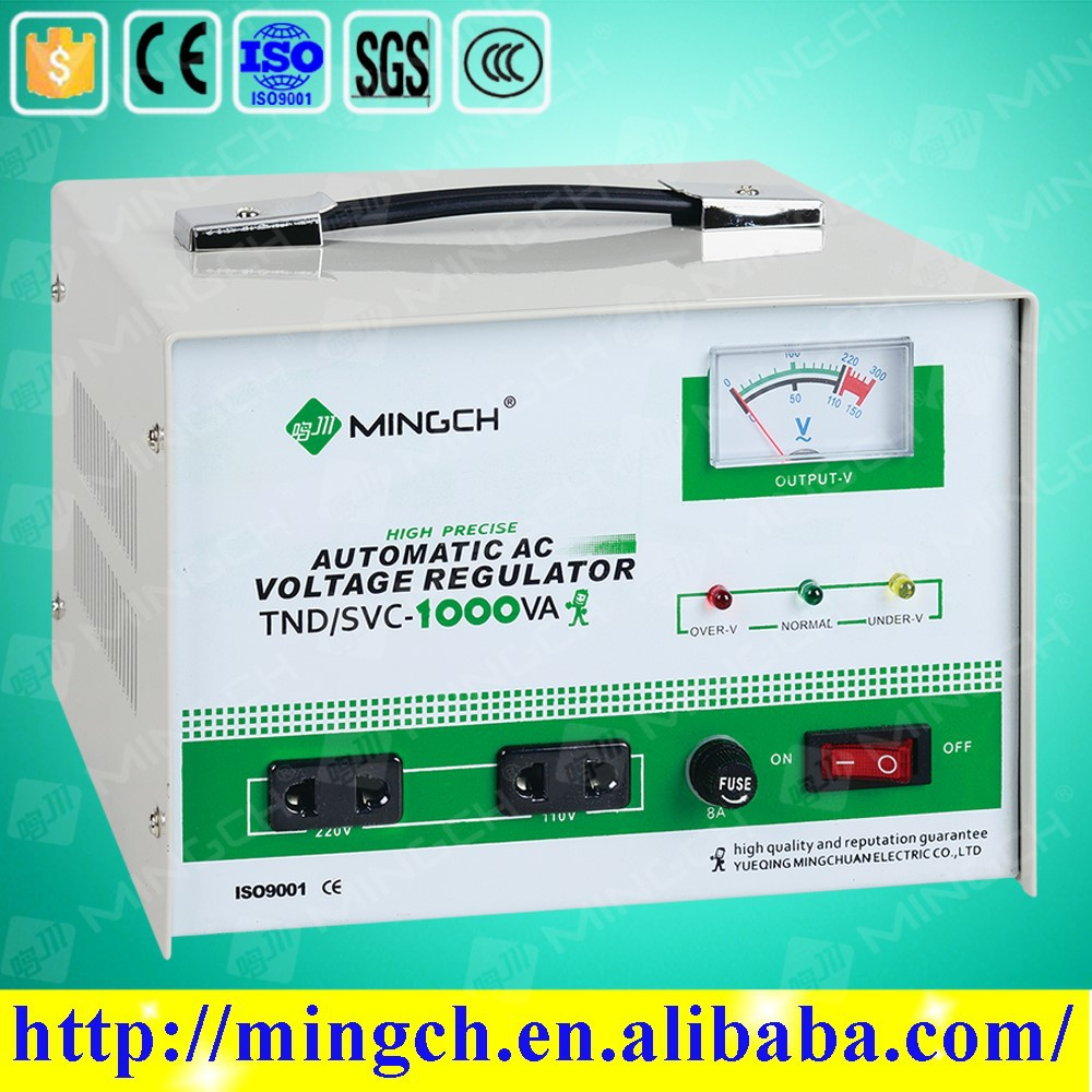 CE ROHS approved svc single phase servo motor control 10000 watt ac automatic voltage regulator